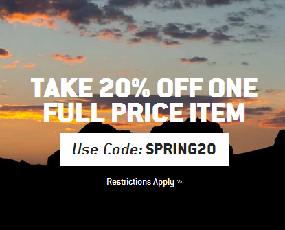 20% off full-priced item