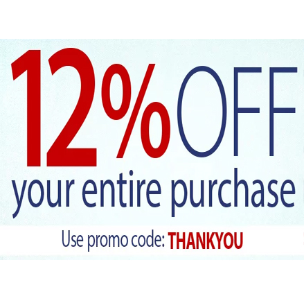12% off your purchase