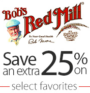 up to 50% on Bob's Red Mill
