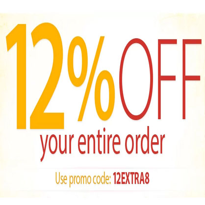 12% off your entire order