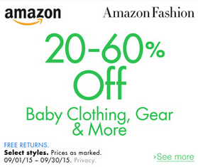 September Baby Sale up to 60%