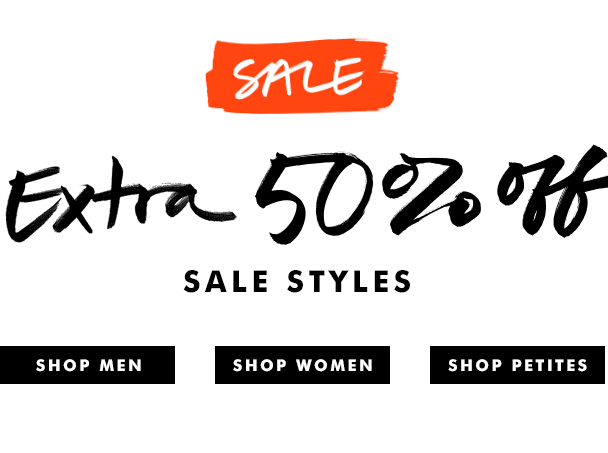 Extra 50% off sale styles
