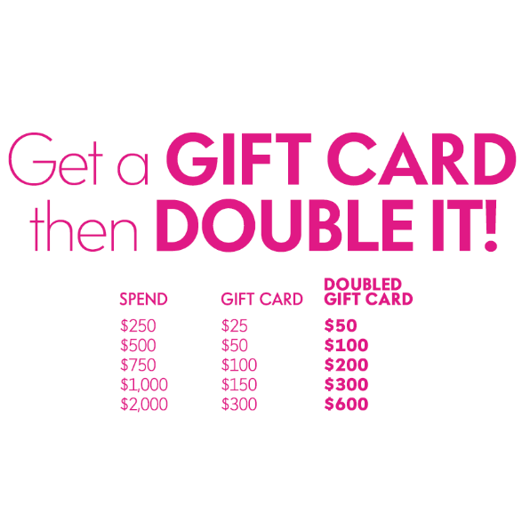 Receive up to a $300 gift card