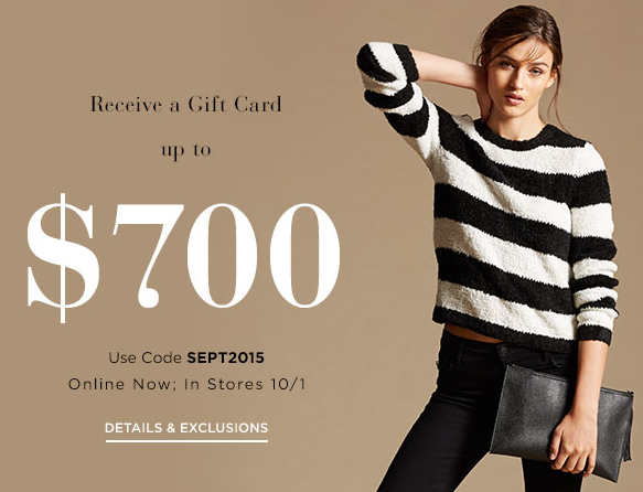 Get up to $700 gift card