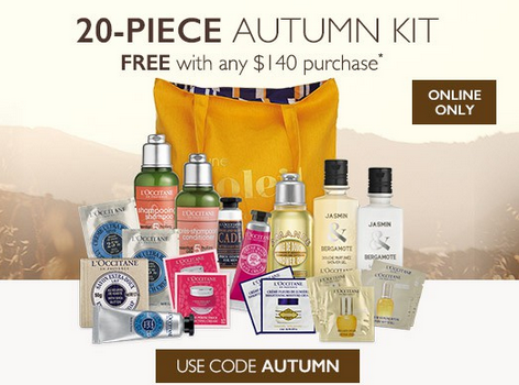 Free 20-Piece Autumn Set with