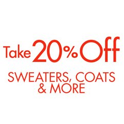take 20% off sweaters&more