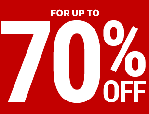 for up to 70% off