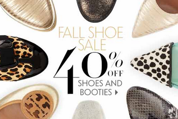 Enjoy 40% off select Shoes