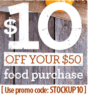 10% off your $50 Food purchase