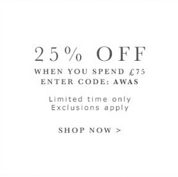 25% off when you spend £75