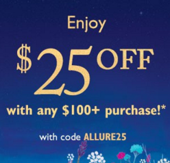 $25 off any $100