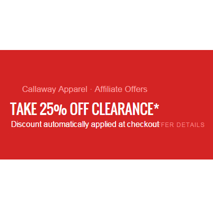 Take 25% Off Clearance