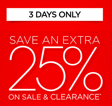 Extra 25% OFF All Sale