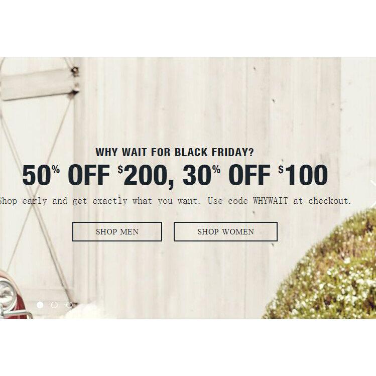 50% OFF $200, 30% OFF $100