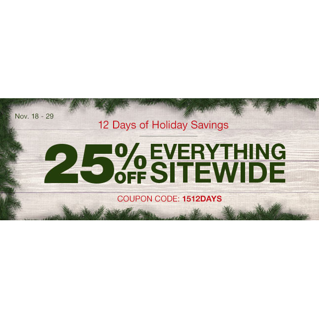 25% off everything sitewide