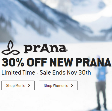 30% OFF NEW PRANA