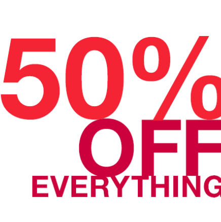 50% off everything at Gap