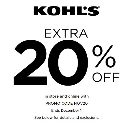 an extra 20% off in store