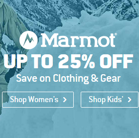 UP TO 25% OFF Marmot
