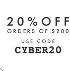 Save 20% on all orders $200