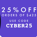 Save 25% on all orders $425