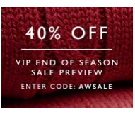 40% off VIP Sale Preview