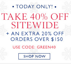 TAKE 40% OFF SITE-WIDE