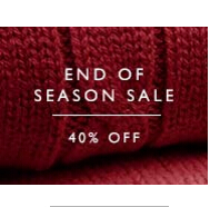 END OF SEASON SALE - 40% OFF