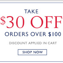 TAKE $30 OFF ORDERS OVER $100