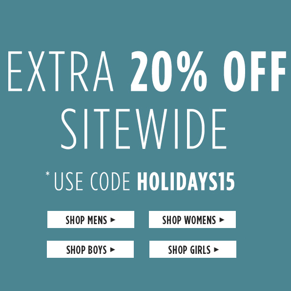 Additional 20% Off Site-wide