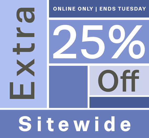 Take 25% off sitewide,