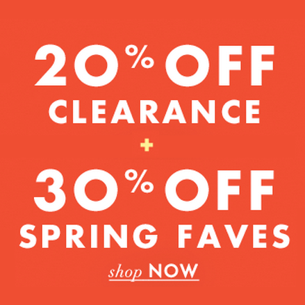 20% off Sale + 30% off