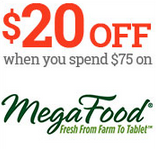 $20 off your $75 MegaFood