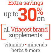 up to 30% on all Vitacost
