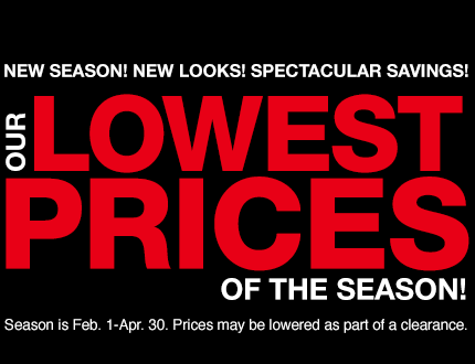 Lowest Price of the Season