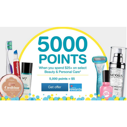 Get 5,000 Points on $25+