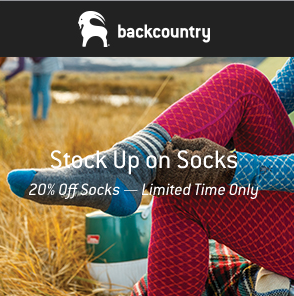20% Off Socks