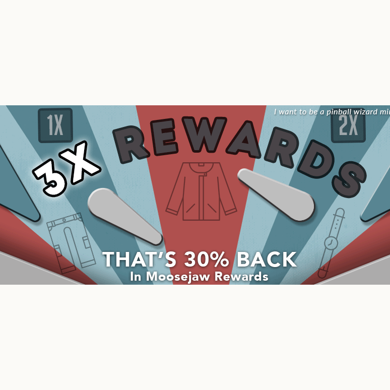 30% Back in Moosejaw Rewards