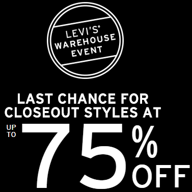Up To 75% Off Closeout Styles
