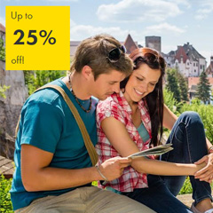 Escape with up to 25% off