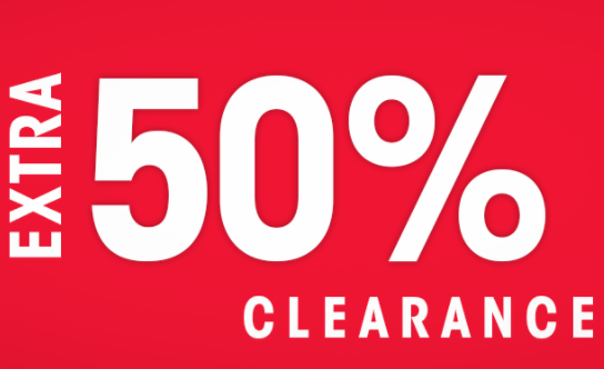 Extra 50% Off Clearance Sale