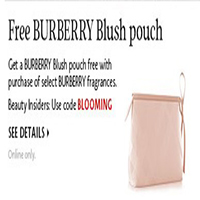 FREE BURBERRY Blush Pouch
