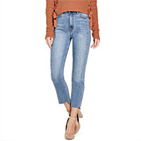 Guess Factory ADEL RAW-HEM STRAIGHT JEANS on sale