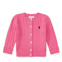 BABY GIRL Cable-Knit Cotton Cardigan Now $16 (Reg. $35)