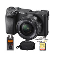 Sony a6300 4KMirrorless Camera w/ lens only $979
