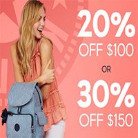 20% OFF $100+30% OFF $150