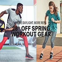 25% OFF Spring Workout Gear