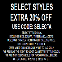 Select Styles Get Extra 20% OFF