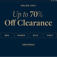 ONLINE CLEARANCE UP TO 70% OFF