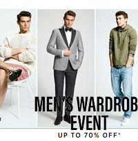 MEN'S WARDROBE EVENT UP TO 70% OFF+ Extra 20% OFF Designer Shirt